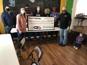 Odd Fellows Mt. Zion Illinois #300 Donation