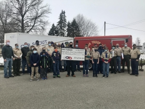 Thank you Odd Fellows for the $2,000 donation to Scouts 43, Pack 43 and Crew 343.